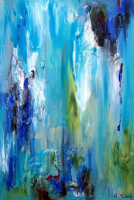 Abstraktes Bild blau türkis