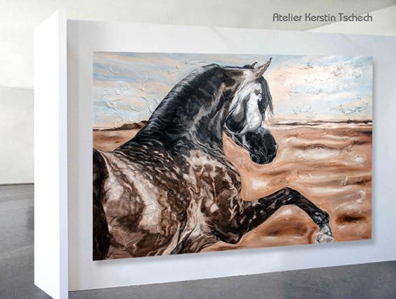 Al Shiraa Arabians Gemälde von Kerstin Tschech