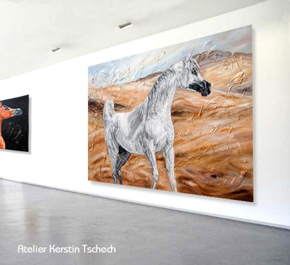 Pferdegemälde Arabische Pferde