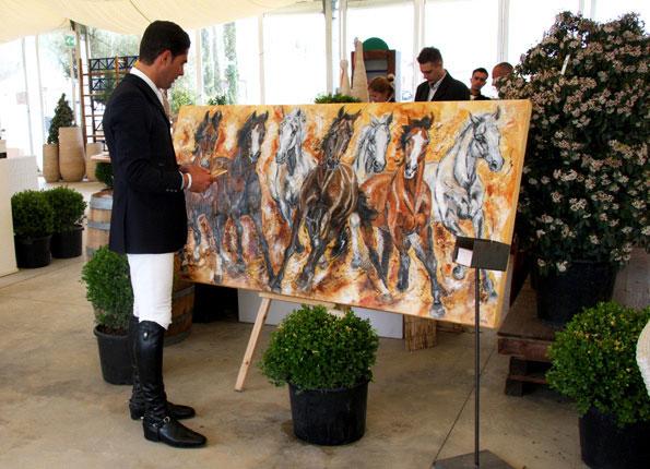 Alvaro de Miranda Neto Pferdeherde gemalt