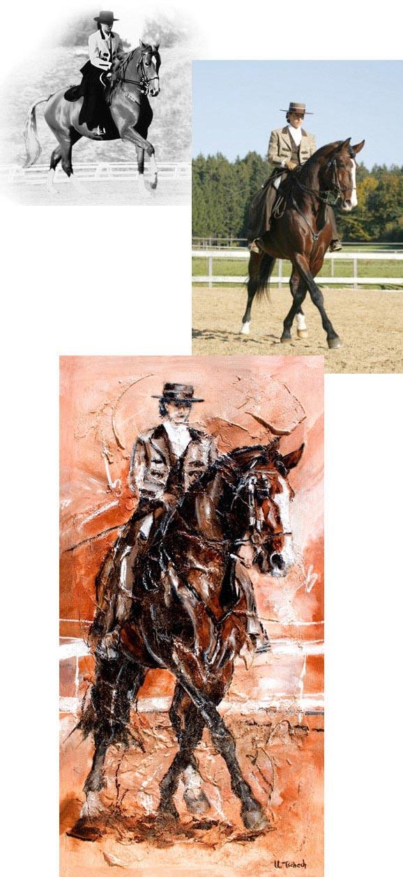 Anja Beran Pferdegemälde von Kerstin Tschech