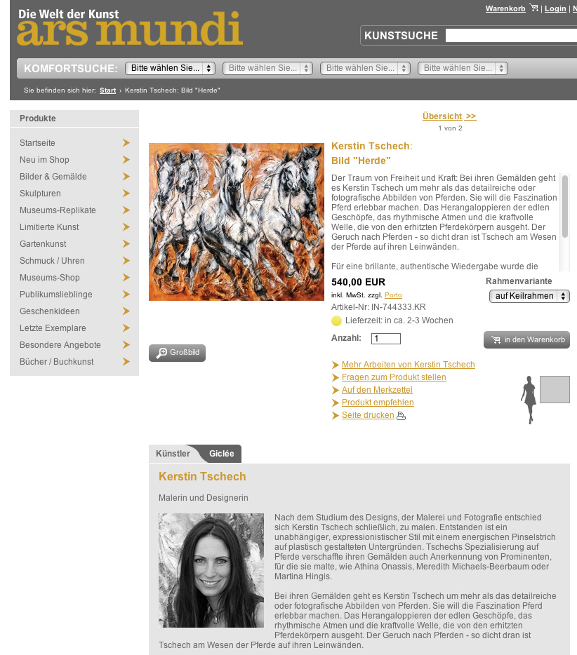 ars mundi horse paintings Kerstin Tschech