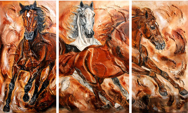 Athina Onassis Horse Painting