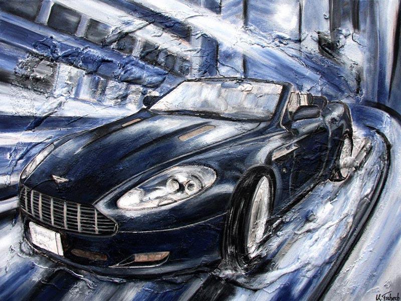 Auto Gemälde im Auftrag