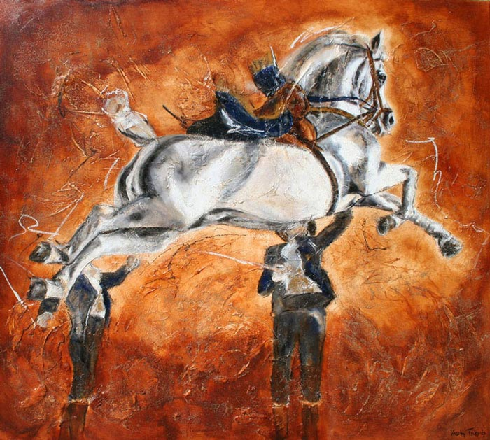 Capriole Pferdebild