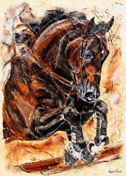 Checkmate Pferde Gemälde auf Leinwand