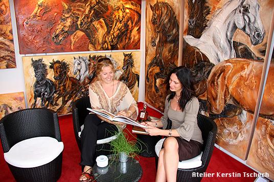 Ausstellung Pferdegemälde CHIO Aachen Kerstin Tschech
