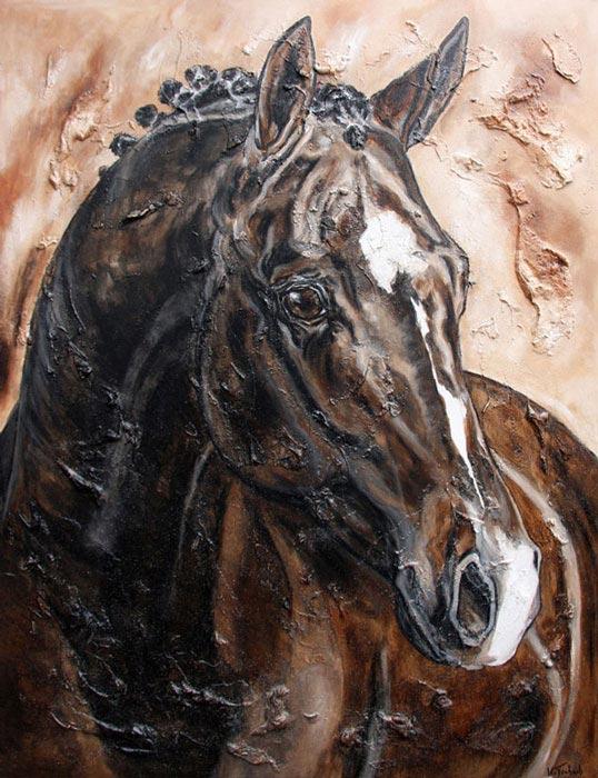 Dressurpferd Pferdeportrait malen lassen