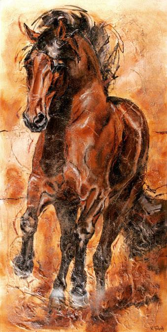 Dressurpferd Pferdegemälde von Kerstin Tschech