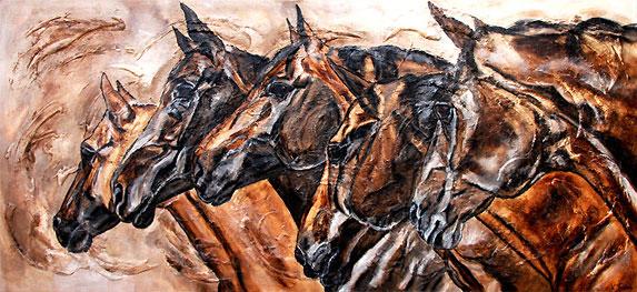 Pferdeherde Pferdegemälde von Kerstin Tschech
