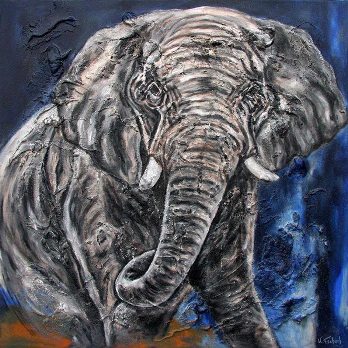Elefanten Gemälde auf Leinwand