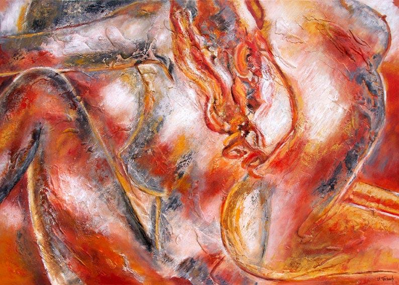 Frauenakte Gemälde