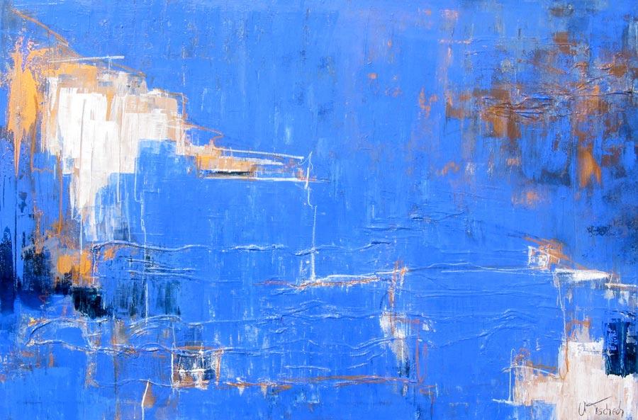 Abstrakte Gemälde mit Struktur