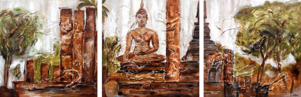 Gemälde Buddha auf Leinwand
