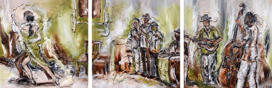 Havanna Gemälde abstrakt Salsa