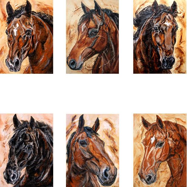 Horseportrait on canvas