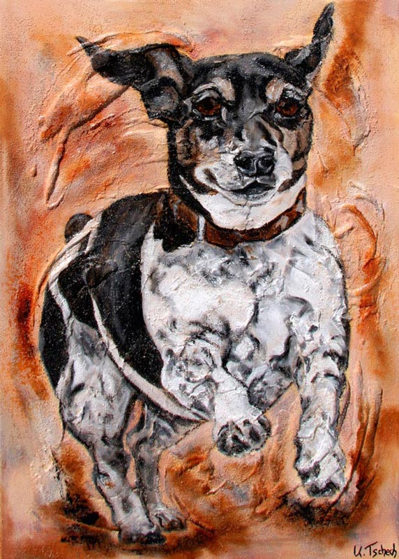 Hund im Auftrag als Gemälde