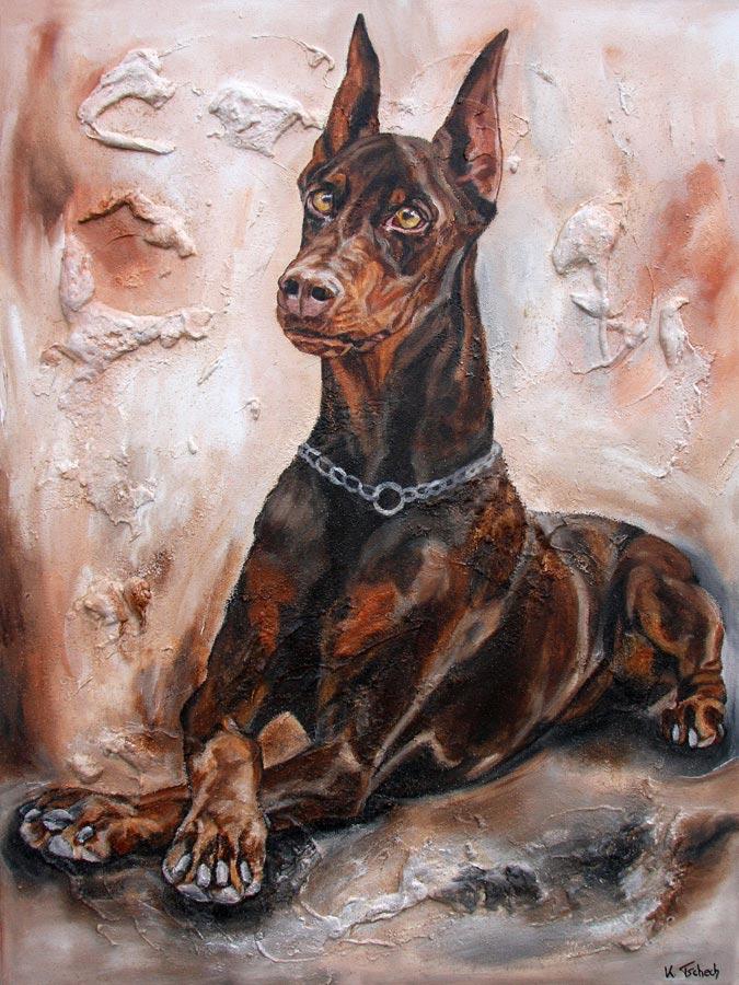 Hund im Auftrag malen