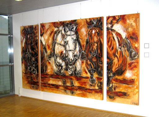 Jumping Horses Artworks Kerstin Tschech
