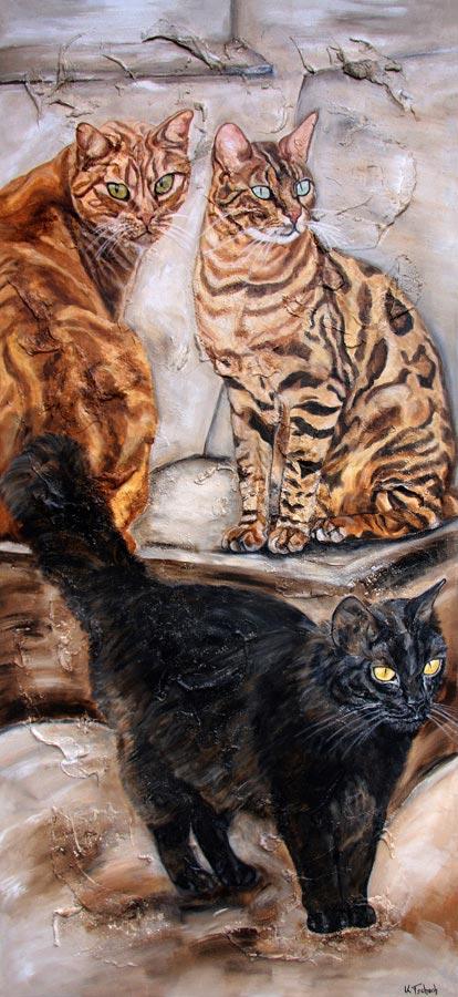 Katzen malen lassen