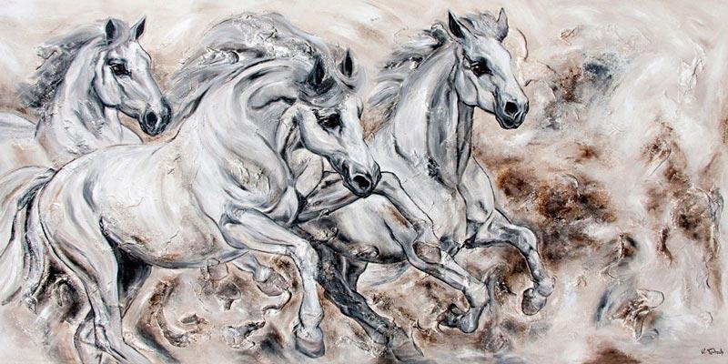 Pferdebild gemalt auf Leinwand