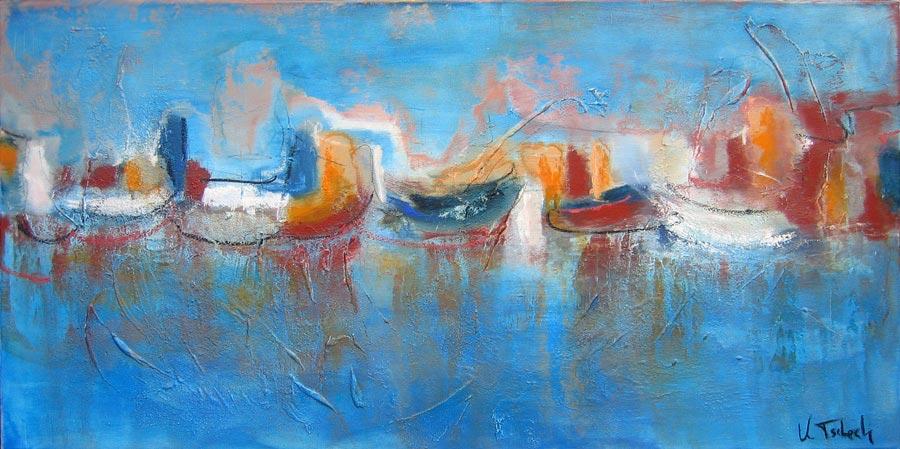 Küste Gemälde abstrakt