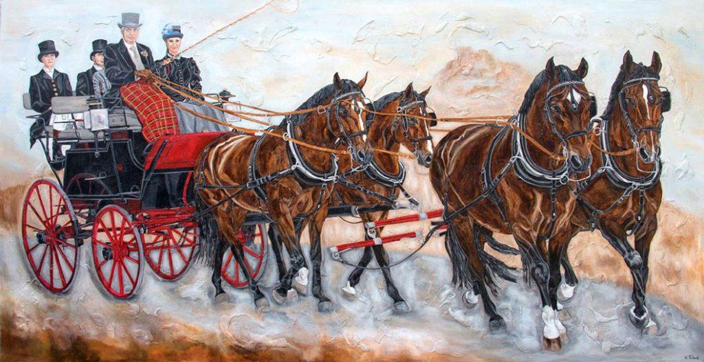 Kutschengemälde von Kerstin Tschech