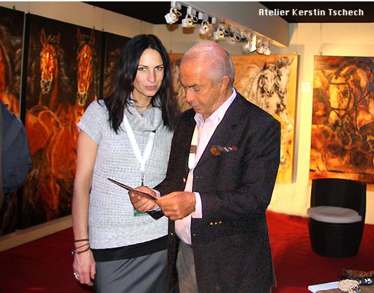 Nelson Pessoa Kerstin Tschech Pferdegemälde
