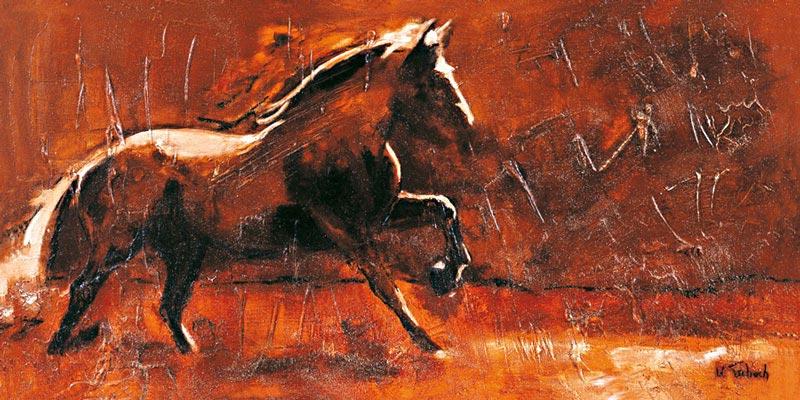 Pferd gemalt