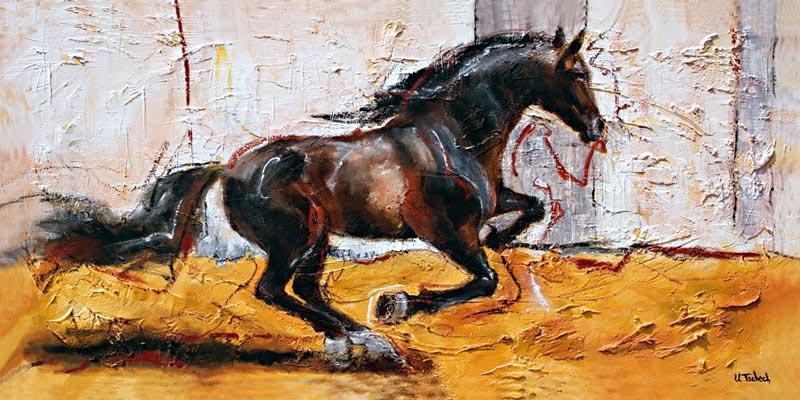 Pferd im Galopp gemalt