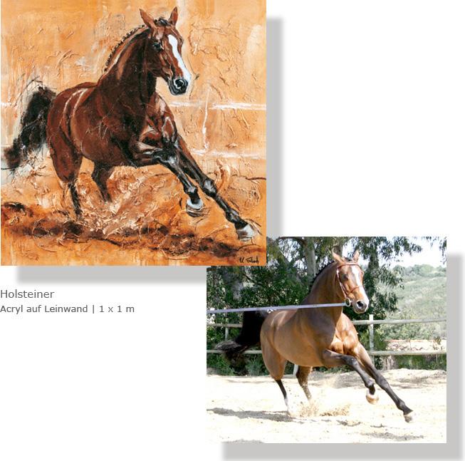 Pferd malen lassen als Auftrag