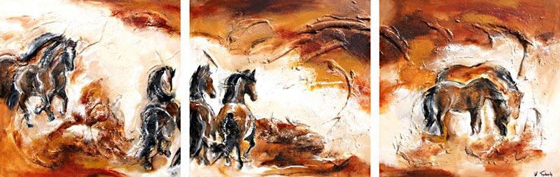 Pferdeherde Pferdegemälde