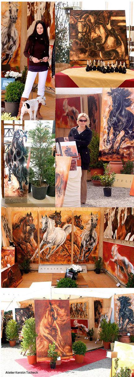 Kerstin Tschech Toscana Tour Arezzo Pferdegemälde