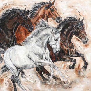 Pferde malen im Auftrag