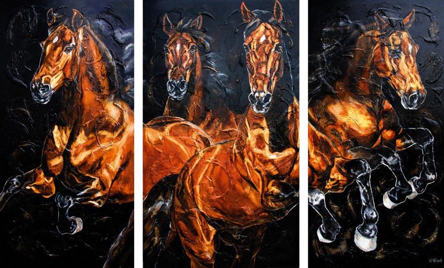 Pferde im Auftrag malen lassen Kerstin Tschech