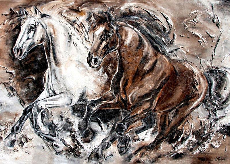 Eigene Pferde malen lassen