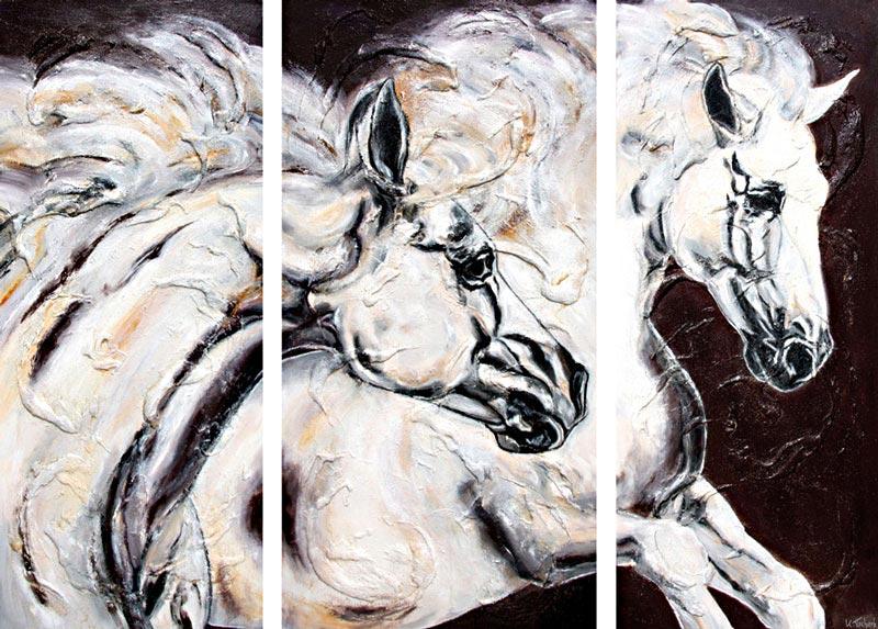 Pferdeportraits gemalt von Kerstin Tschech