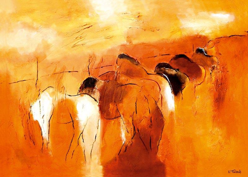 Pferde Gemälde Auftragsarbeit