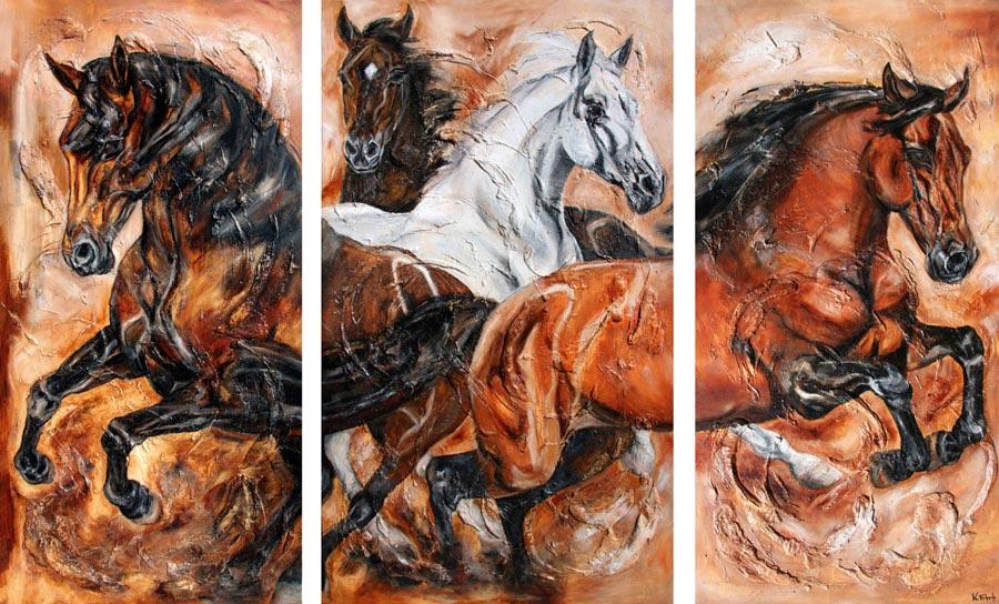 Pferde Gemälde von Kerstin Tschech