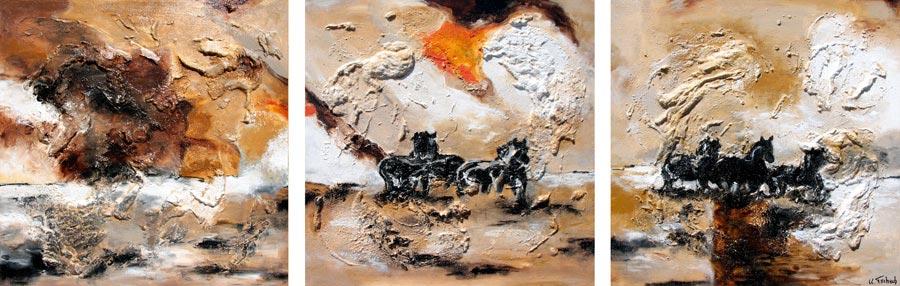Pferde Gemälde nach Auftrag