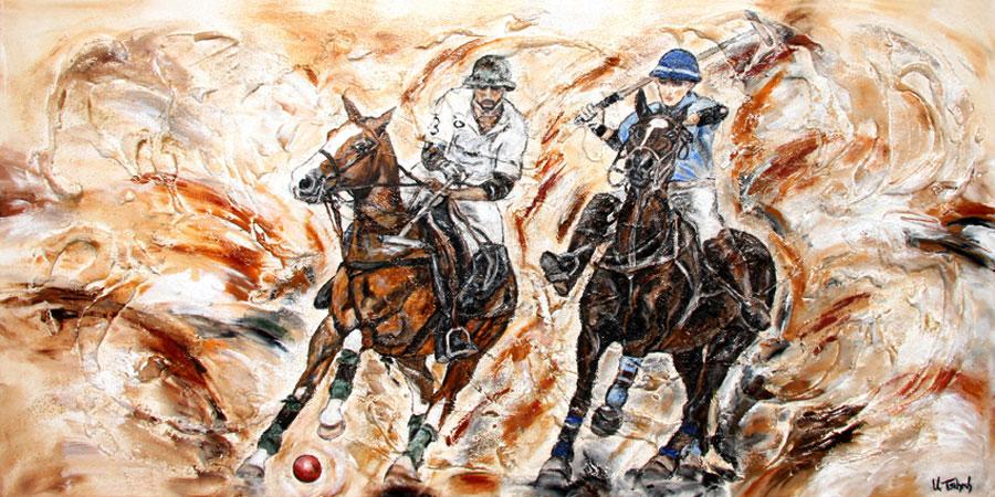 Pferde Gemälde Polo