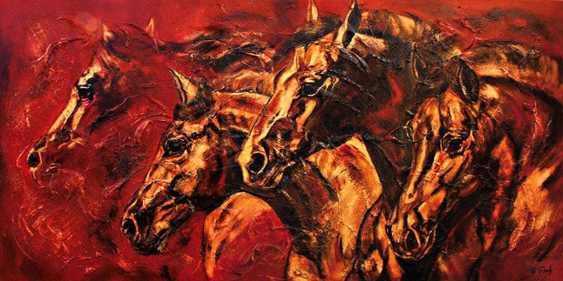 Auftragsarbeit Pferdegemälde