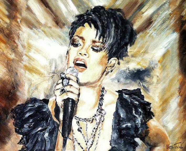 Sängerin Gemälde auf Leinwand