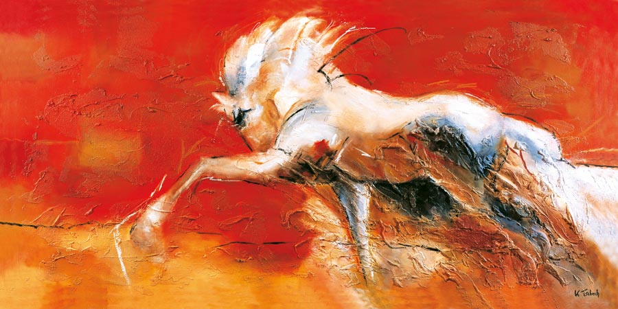 Spanischer Schritt buntes Pferdegemälde