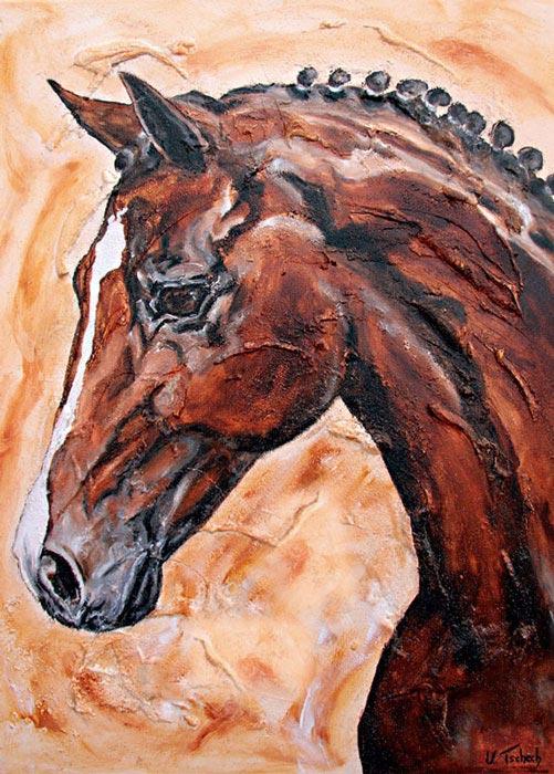 Dressurpferd Pferdegemälde