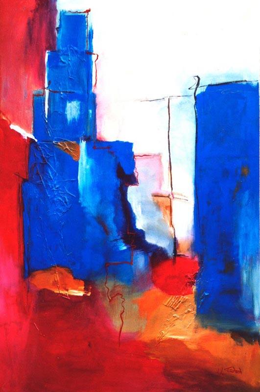 Stadt Gemälde abstrakt