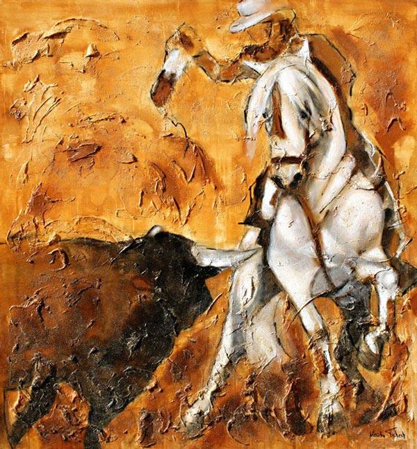 Stierkampf Gemälde auf Leinwand