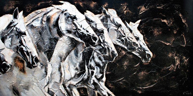 Stutenherde Pferdegemälde Kerstin Tschech