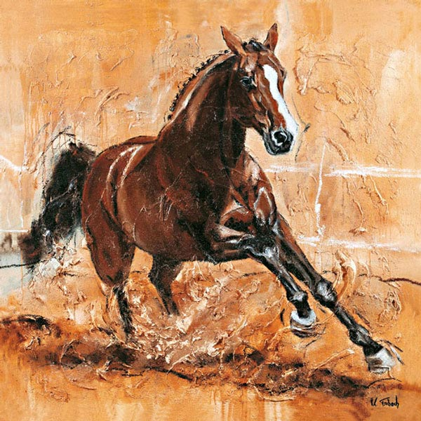 Warmblut Pferdegemälde Kerstin Tschech