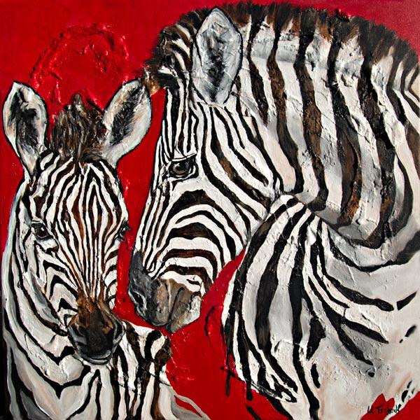 Zebragemälde bunt
